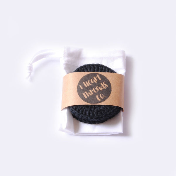 ORGANIC COTTON FACIAL ROUNDS //black//