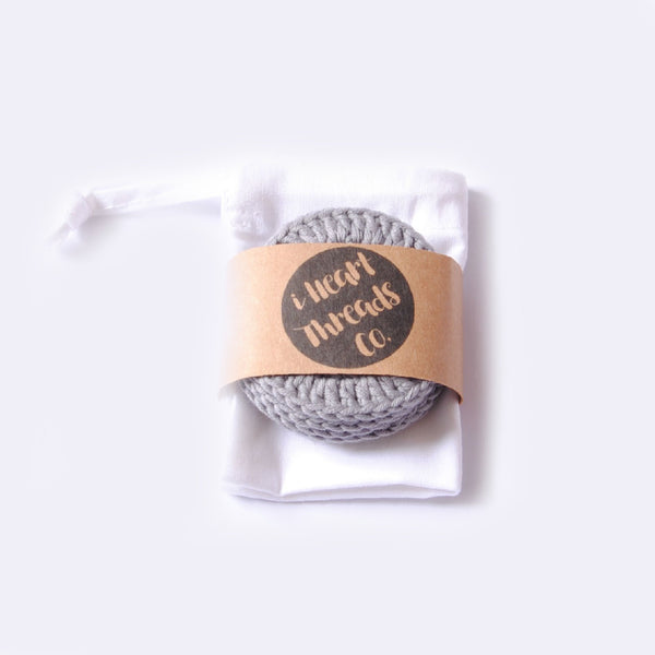ORGANIC COTTON FACIAL ROUNDS //grey//