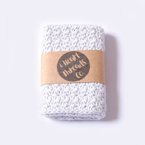 ORGANIC COTTON FACIAL CLOTH //silver//