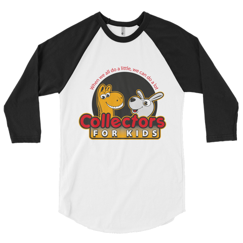 Collectors For Kids Logo 3/4 sleeve raglan shirt