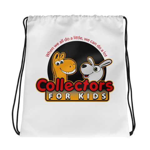 Collectors For Kids Logo Drawstring bag