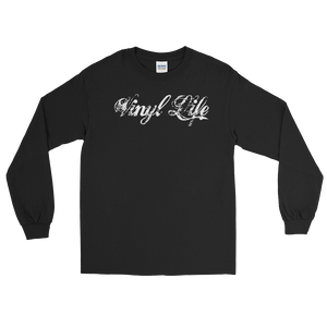 "VinylWear ""Vinyl Life"" White Long Sleeve T-Shirt"