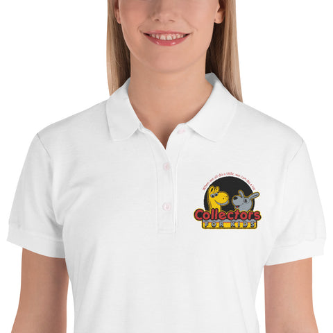 Collectors For Kids Logo Embroidered Women's Polo Shirt