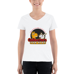 Collectors For Kids Logo Women's Casual V-Neck Shirt