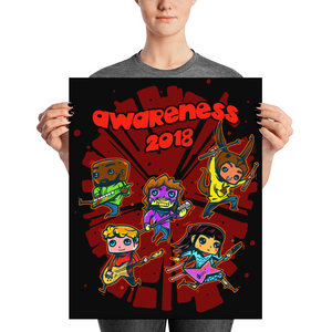 PROJECT #3 AWARENESS 2018 on Black Poster