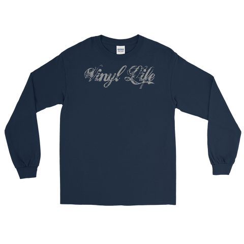 "VinylWear ""Vinyl Life"" Grey Long Sleeve T-Shirt"