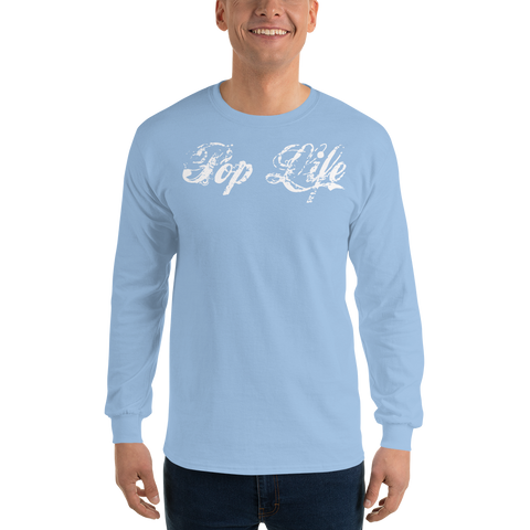 "VinylWear ""Pop Life"" White Long Sleeve Color T-Shirt"