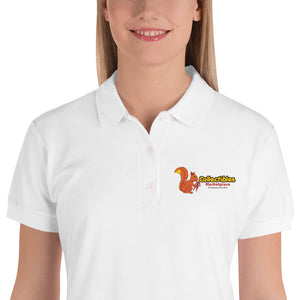 Collectibles Marketplace Logo Embroidered Women's Polo Shirt