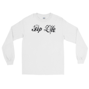 "VinylWear ""Pop Life"" Black Long Sleeve Light Color T-Shirt"