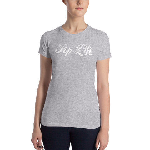 "VinylWear ""Pop Life"" Women's Slim Fit Dark T-Shirt w/ FPBST on back"