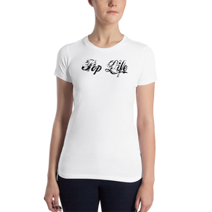 "VinylWear ""PopLife"" Women's Slim Fit T-Shirt w/ FPBST on back"