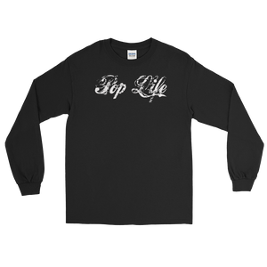 "VinylWear ""Pop Life"" White Long Sleeve Dark T-Shirt"