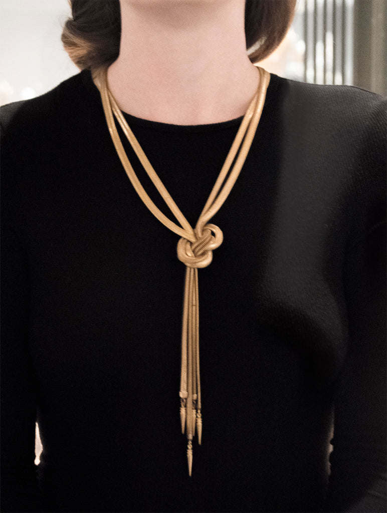 Vannier Lariat Tassel Necklace - Recollect Jewelry