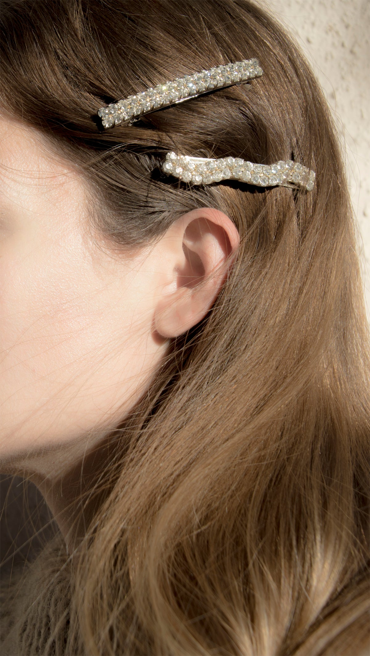 Vintage French Rhinestone Barrettes - Recollect Jewelry