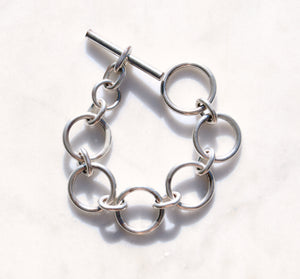 90s Silver Link Bracelet - Recollect Jewelry