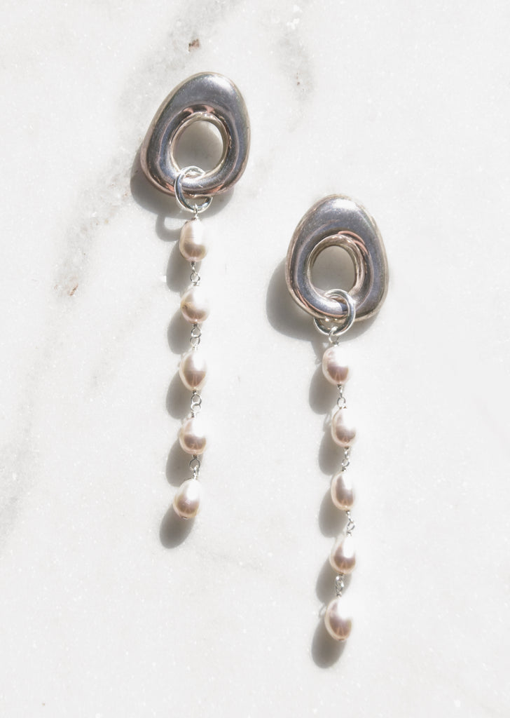 925 Silver Earrings with Pearls