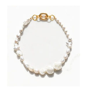 Apex Pearl Collar Necklace