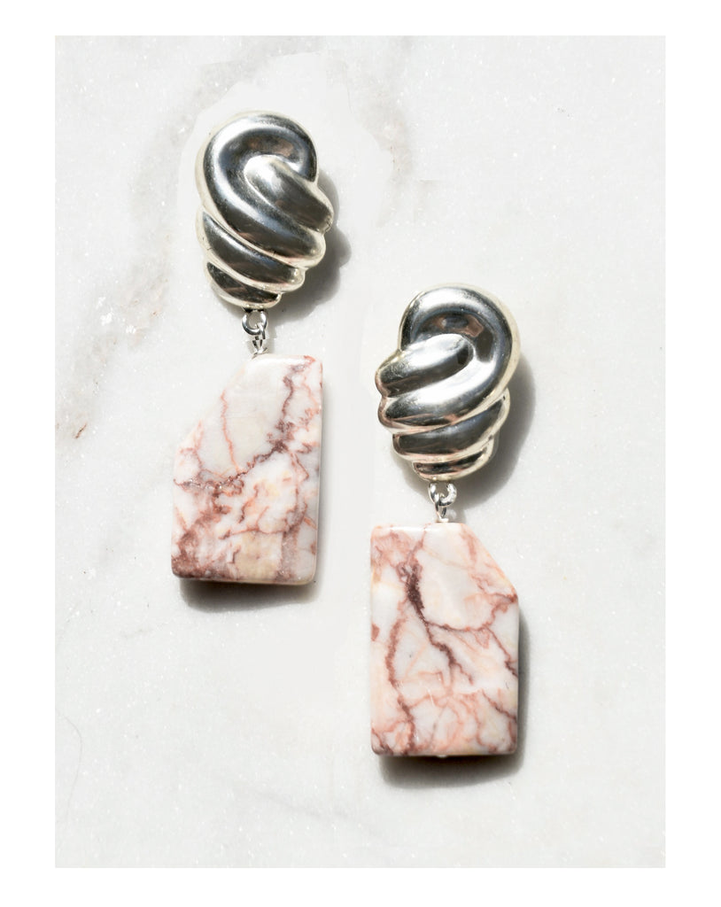 Clouded Marble Earrings