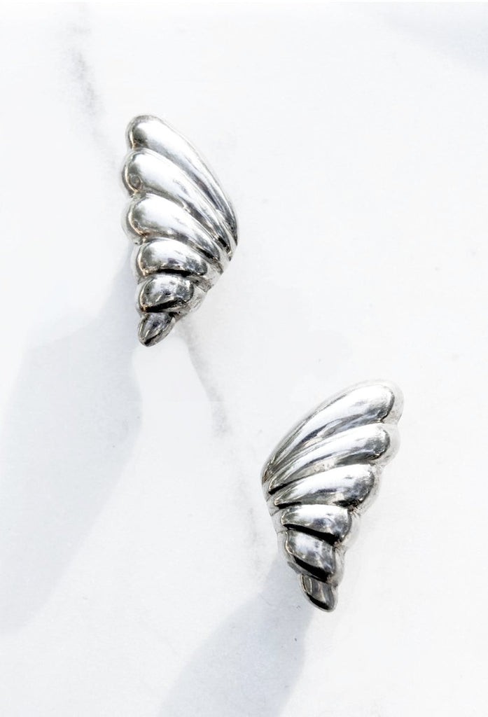 Silver Wing Earrings - Recollect Jewelry