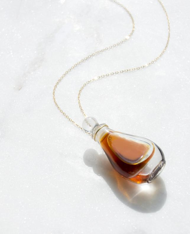 Elsa Peretti for Halston Perfume Bottle Necklace - Recollect Jewelry