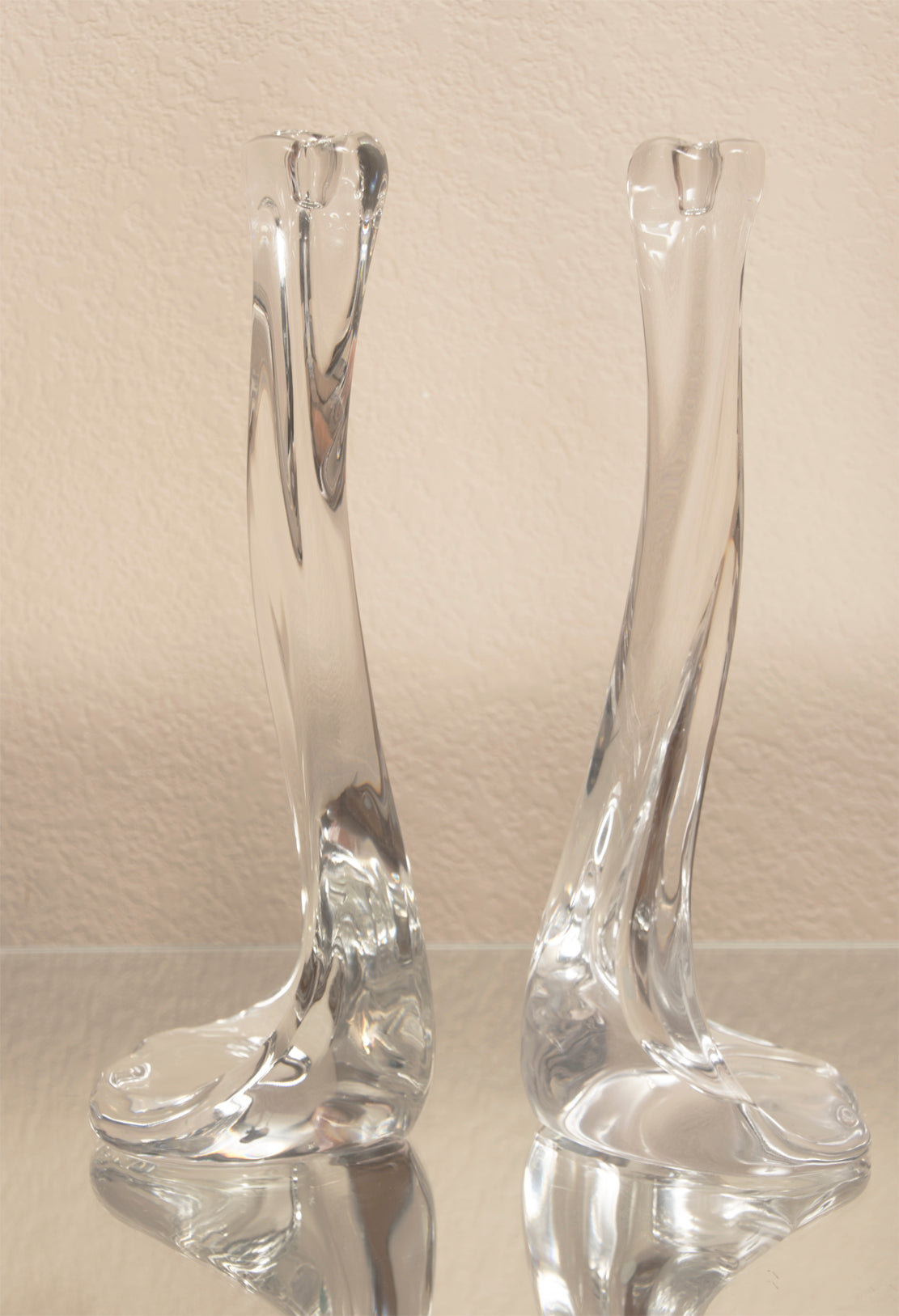 Vintage Elsa Peretti for Tiffany & Co. Crystal Bone Candlesticks