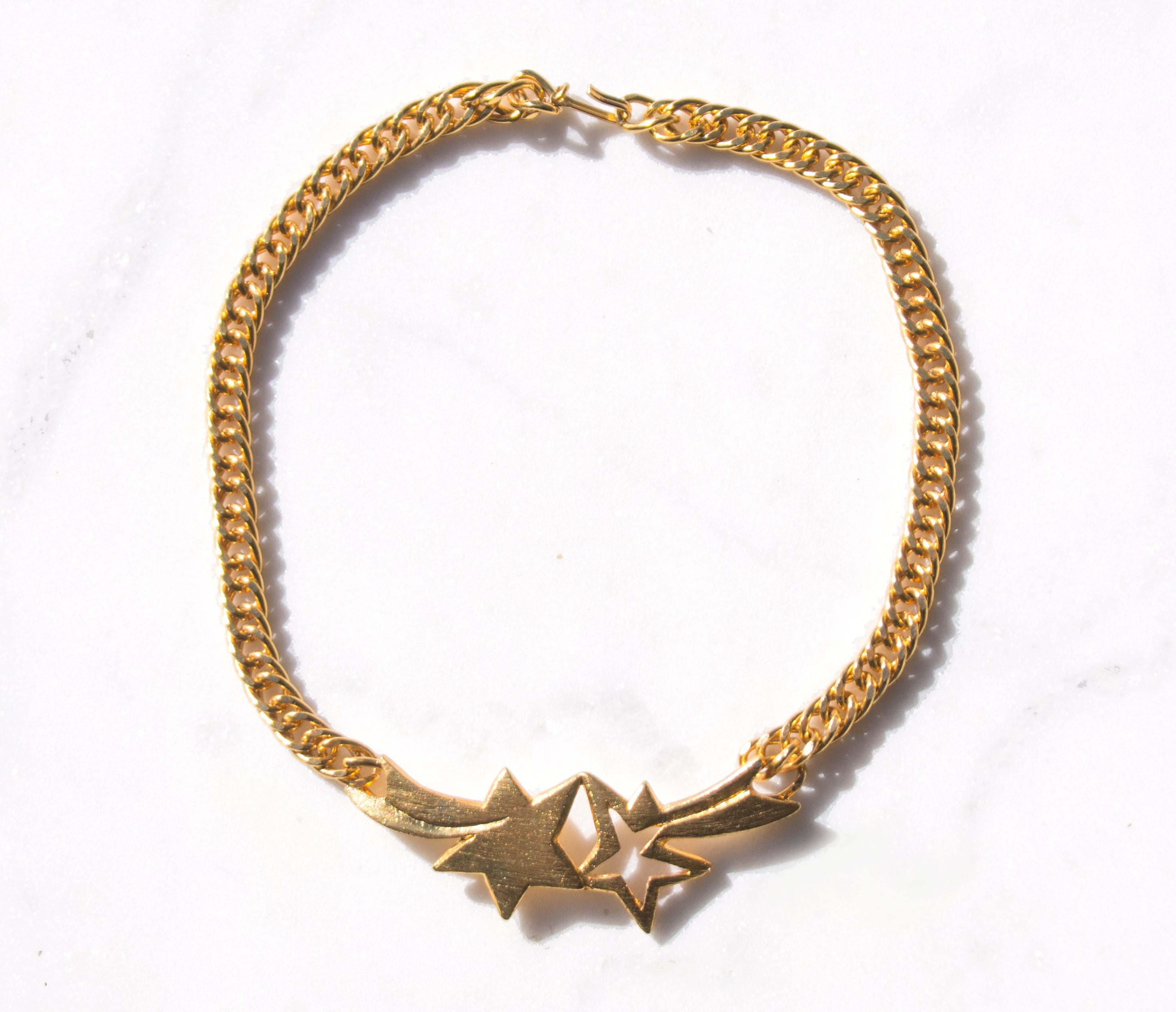 Supernova Gold Collar Necklace