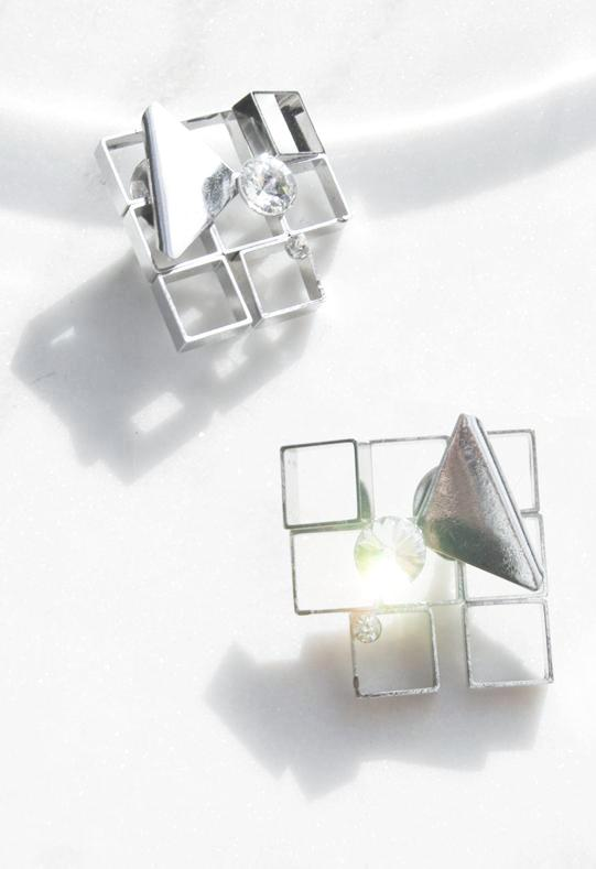 Memphis Grid Earrings - Recollect Jewelry