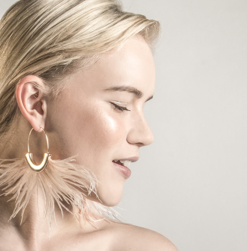 Lechuza Feather Earrings