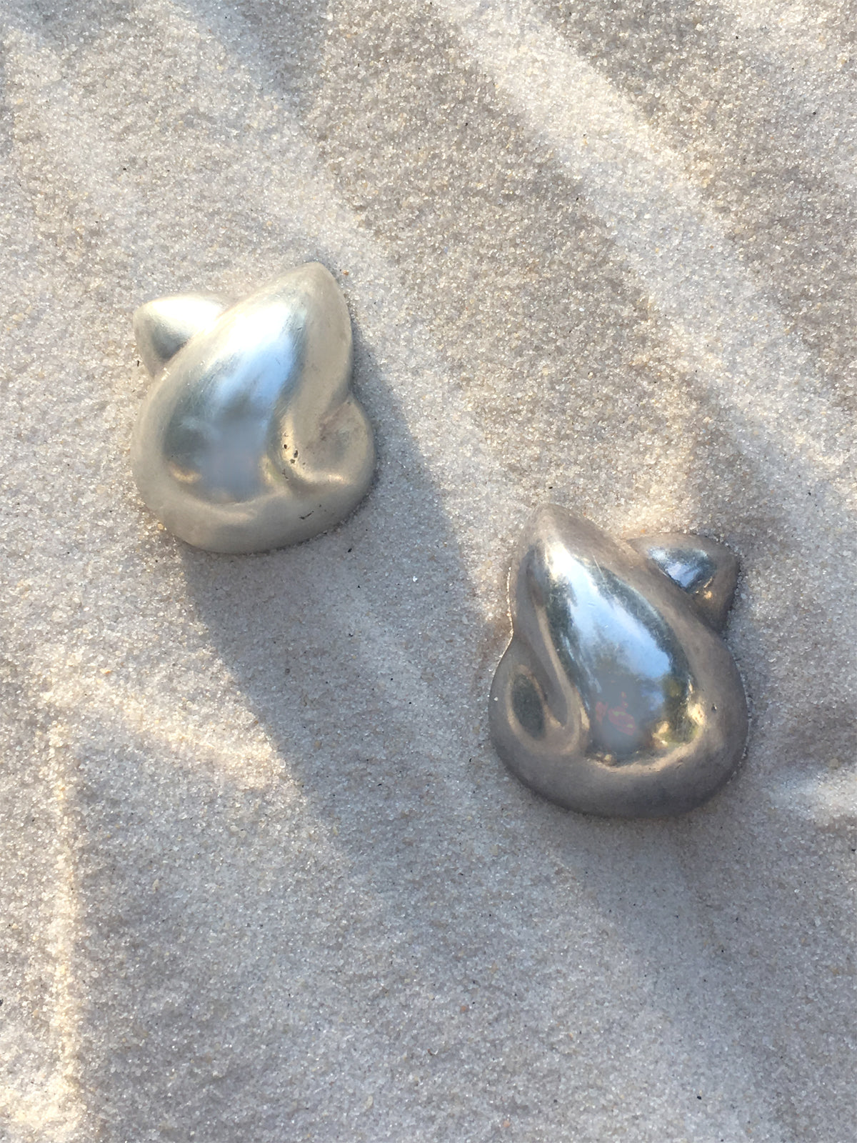 Vintage Patricia Von Musulin Silver Sculptural Earrings