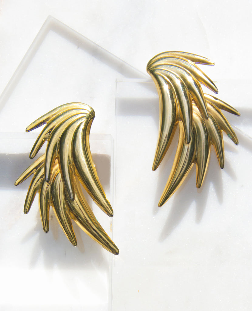 Arcana Gold Statement Earrings - Recollect Jewelry