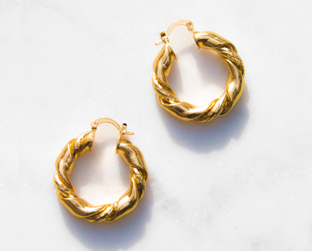 Cusi Gold Vermeil Hoop Earrings