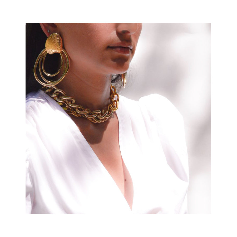 Biscayne Gold Hoop Earrings
