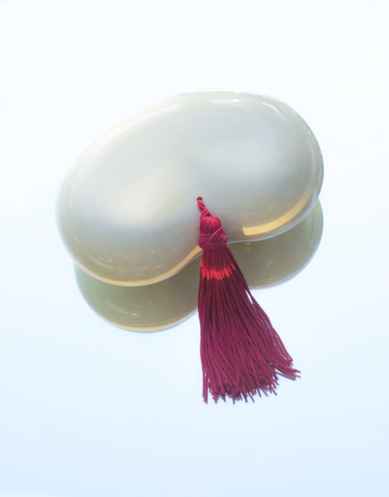 Elsa Peretti for Halston Bean Trinket Box with Red Silk Tassel