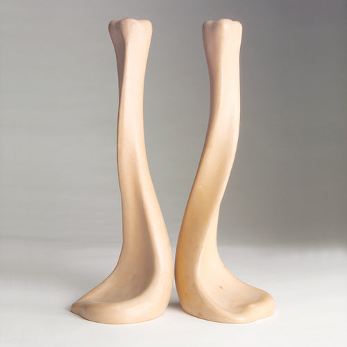 Vintage Elsa Peretti for Tiffany & Co. Terracotta Bone Candlesticks