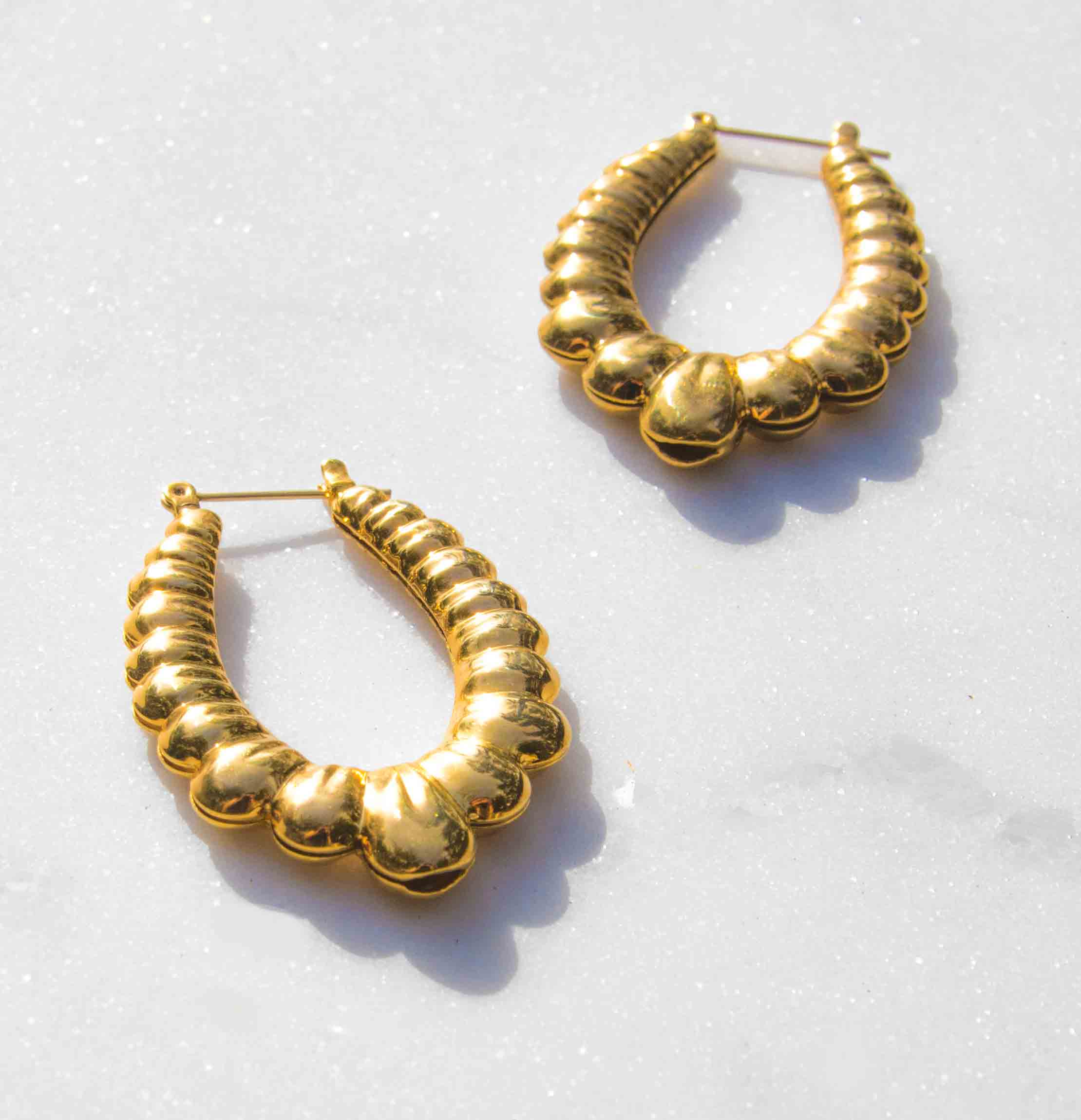 Sombra Gold Plated Hoop Earrings