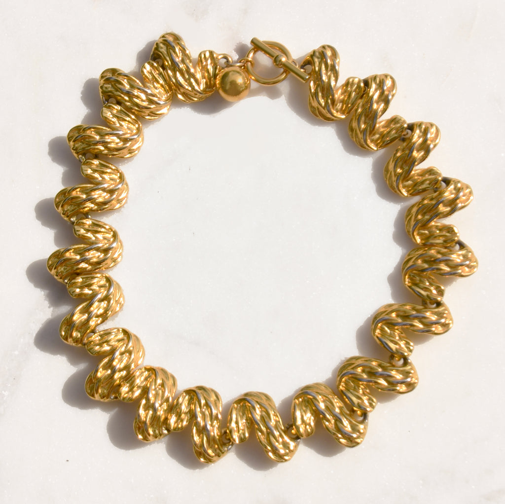 Hagen Gold Collar Necklace - Recollect Jewelry