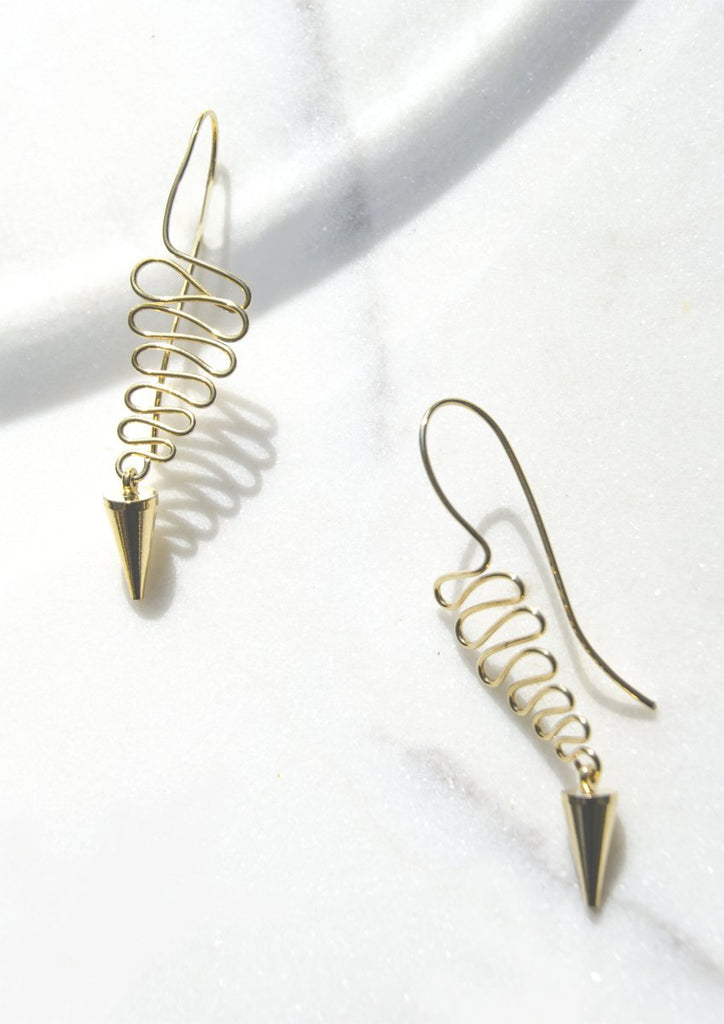 Pendulum Drop Earrings - Recollect Jewelry