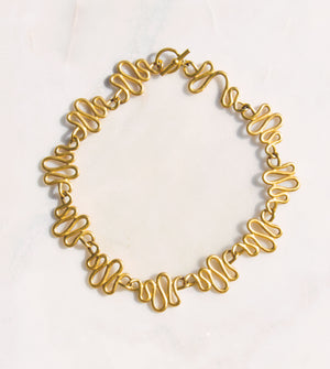 Heartbeat Gold Collar Necklace - Recollect Jewelry