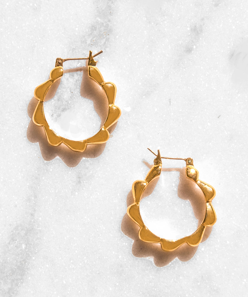 La Paz Gold Hoop Earrings
