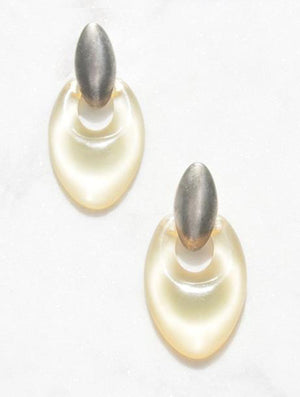 Vintage Clear Lucite Earrings - Recollect Jewelry