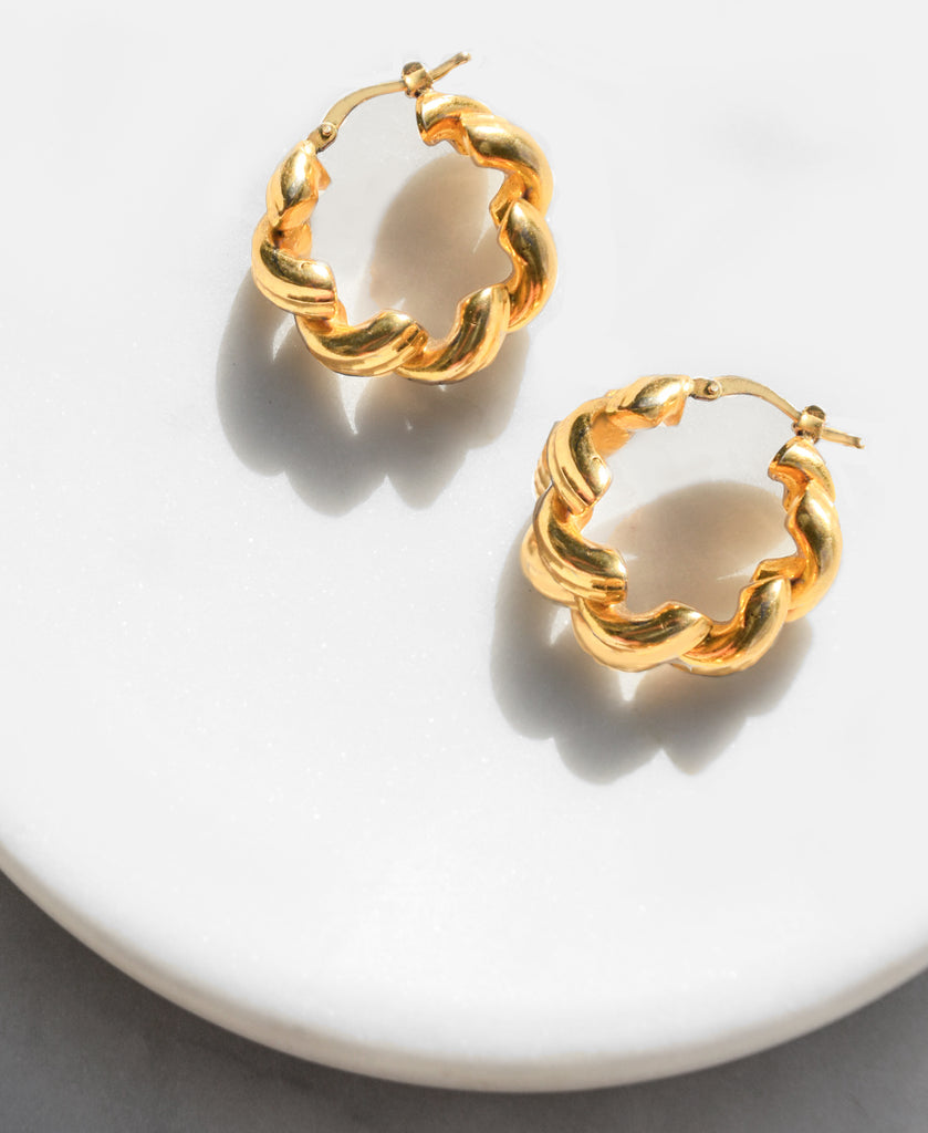 Mezzanine Gold Vermeil Hoop Earrings
