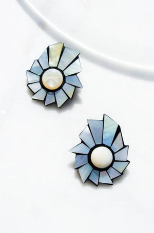 Oversized Mother of Pearl Earrings