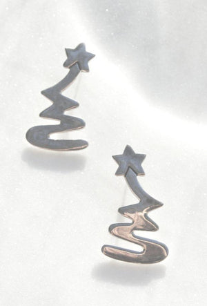 Shooting Star Silver Earrings - Recollect Jewelry