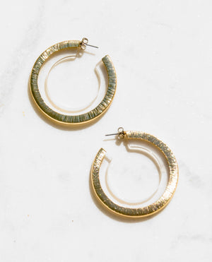 Soleil Clear Lucite Hoop Earrings