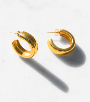 Perfect Chunky Gold Hoop Earrings