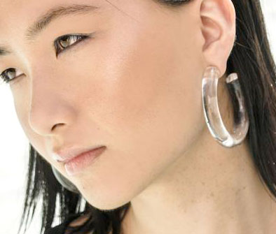 XL Clear Lucite Hoop Earrings | Recollect Jewelry