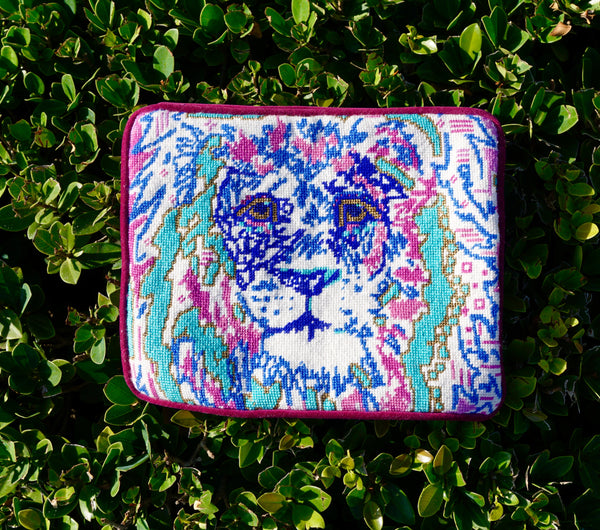 Lily The Lion by Thorn Alexander Needlepoint Clutch