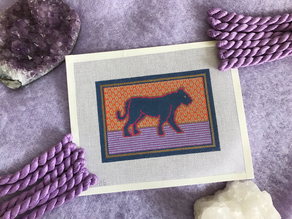 Thorn Alexander Pippa The Panther Contemporary Needlepoint Canvas