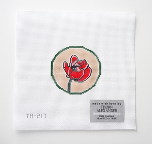 Poppy Love Needlepoint Canvas