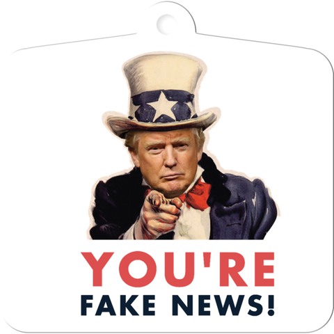 You're Fake News Christmas Ornament
